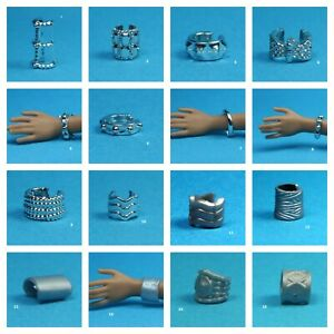 Barbie Fashionistas Set 19 Choose Pick 1 Silver Color Bracelet for 1/6 Doll