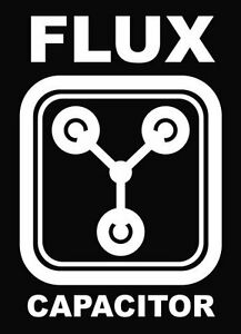 Flux Capacitor-Car-Van-Wall-Door-Decal-Sticker(White,No Background Colour)
