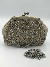 BRIGHTON NWT  Anju Coinette  Leather Jeweled Beaded Evening Bag - 2 STRAPS