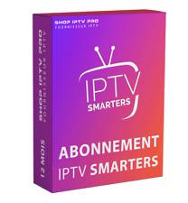 SMARTERS PRO 12 MOIS Abonnement pour ANDROID BOX, SMART TV, M3U, MAG (rapid).