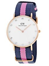 Daniel Wellington 0952DW Classic Winchester Rose Gold Women's Watch Nylon Strap