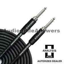 Analysis Plus Black Oval Instrument Cable Straight Silent Plugs 10ft