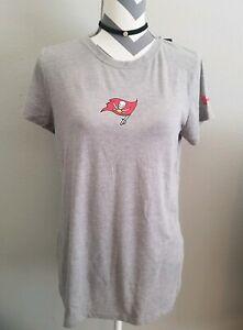 Under Armour Tampa Bay Buccaneers Combine Authentic T-Shirt Gray Sz M Women NEW