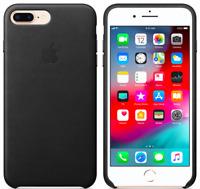 Apple Echt Original Leder Schutz Hülle Case für iPhone 8 / 7 Plus - Schwarz