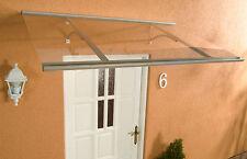 Alu Haustürvordach Klassik silber 160 x 85 cm mit 4 mm Acrylglas Eindeckung