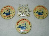 Aquatennial Minneapolis (4) Pinback Button Badges - 1950's Vintage Minnesota
