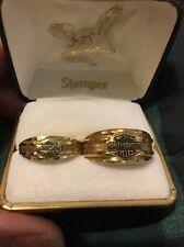 Mens & Ladies  Matching 10K Yellow Gold Harley Davidson Ring Wedding Set 8/12