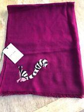 Designer Paul Smith 100% Fine Wool Pink  Magenta 'LEMUR' Scarf  BNWT RRP £170