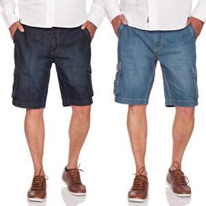 JACKS Jeans Cargo Shorts mit dehnbarem Bund in Dark Rinse oder Medium Blue