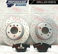 BMW 1 Series E81 E87 118 120i 06-13 Rear Disc and Pad DRILLED PERFORMANCE BREMBO