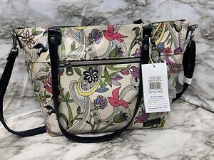 Sakroots artist circle style 107397 white handbag shoulder bag new large