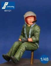 1/48 Pj Production French Helicopter Pilot Seated In A/C (90s)