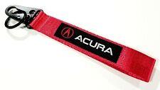 JDM ACURA RED Racing Keychain Metal key Ring Hook Strap Lanyard Nylon