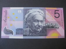 $5 2001 Federation First Prefix AA01 Unc Macfarlane/Evans AA Australia Five Note