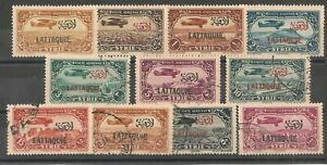 Latakia #C1-C11 (AP2) XF M&U - 1931-33 50c to 100p Air Post Stamps