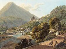 Matthias Gabriel Lory fils français villa vieille peinture Poster Print bb6171a