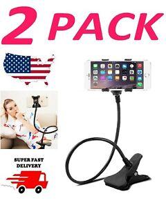 Universal Lazy Mobile Phone Gooseneck Stand Holder Flexible Bed Desk Table Clip