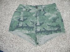 BDG Shorts High Rise Dree Cheeky Green Multi-color Size 26 NWT