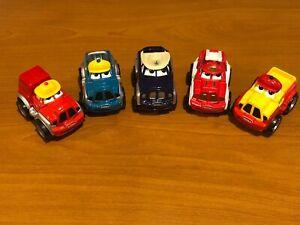 "Pre-Owned Lot of 5 Tonka 2 1/2""  Lil Chuck & Friends Maisto Trucks 2000 Hasbro"