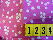 Soft Cotton Jersey Knitted Fabric - Pink Hearts Floral 50cm x 170cm - New by Dcf