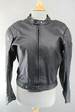 CLASSIC POLO BLACK LEATHER BIKER JACKET 36 INCH