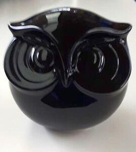 Black Glossy Ceramic Owl Money box Bird Ornament  Home Decor