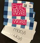 2 X $5 Bath & Body Works Gift Cards AND 2 X $5 Macy's Gift Cards No Expiration For Sale