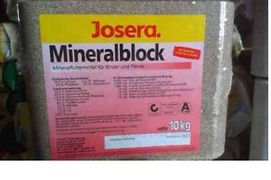 Josera Leckstein Mineralblock Mineralfutter 10kg 0,99€/Kg