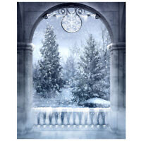 Christmas Snow Winter Tree 5x7 ft CP Scenic Photo Background Backdrop F8L2 N6C0