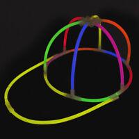 Glow Baseball Cap Glow Sticks Clubbing Party Rave Fancy Dress Glow in Dark