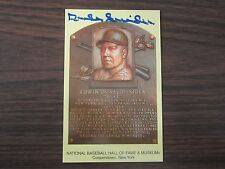 Duke Snider Autograph / Signed Gold Hall Fame Post Card Brooklyn Dodgers