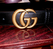 Black Gold Belt Size 75cm GG Belt