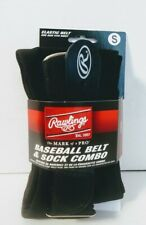 Black Youth Baseball Softball Socks and Belt Combo Rawlings Size Small 3Y-5Y New