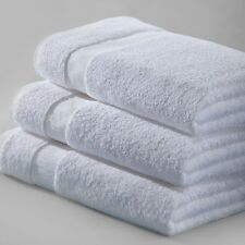 12 WHITE 100% COTTON NEW HOTEL BATH TOWELS 24x50 ABSORBENT SPA ROYAL TEXTILE**