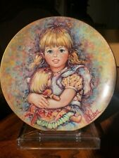 "Wedgewood Series Porcelain Plate Mary Vickers""Cherish"" ;Blossoming of Suzanne"" 9"""