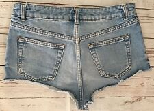 Ladies TOPSHOP MOTO Size W28 Blue Denim Shorts VGC!!