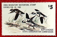 Us Iowa 1979 State Waterfowl Hunting Permit Stamp Buffleheads Ia-8 *Free Ship*