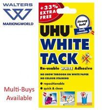UHU White Tack, 33% Extra Free, Reusable White Adhesive, For sticking notes etc