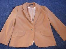 JANE NORMAN manga larga chaqueta corta alineado completamente con un solo botón para sujetar si