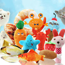 Dog Cat Stuffed Toy Pet Funny Puppy Chew Squeaker Squeaky Plush Play Sound Gift