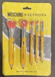 MOSCHINO + Sephora Pencil Brush Set, (Brand New, Limited Edition)