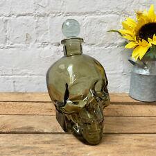 Glass Skull Head Home Bar Wine Whiskey Vodka Shot Bottle Drinks Decanter Gift