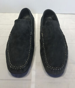 Joseph Abboud Swede Leather Shoe Driving Moccasin Loafer Navy Blue Men Size 12 M