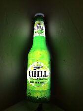 "Miller Chill Beer Light Up Advertising Bar Sign Plastic 30"" Chelsea style 071604"