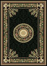 "Black French Oriental Area Rug 6X8 Persien Carpet 023 - Actual 5' 2"" x 7' 2"""