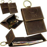 L&B Minibörse & Auto Schlüsselring Geldbeutel Portemonnaie Geldbörse Klein Small