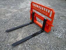 Pro Works 48 5500 Lbs Pallet Fork Attachment Fits Kubota Skid Steer Loader