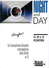 Saxophon Quartett Noten : Night and Day (Cole Porter) - mittelschwer