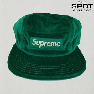 Supreme Velvet Polka Dot Camp Cap Green Fall / Winter 2011 Velour Box Logo BOGO