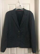 Womens Banana Republic Navy Pinstriped Blazer Jacket Career Work Size 14